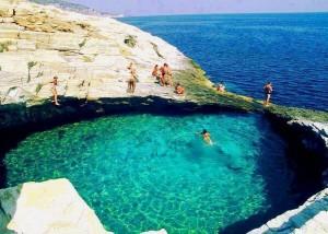 Laguna de Giola Isla de Thassos Grecia